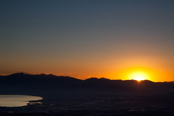 Sunset view from Squaw Peak