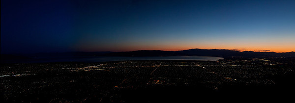 Panoramic Night View  from Squaw Peak