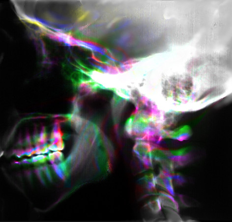 "Skull exp9<br /> available as a small 2"" x 2"" print as it requires one to be close and personal"