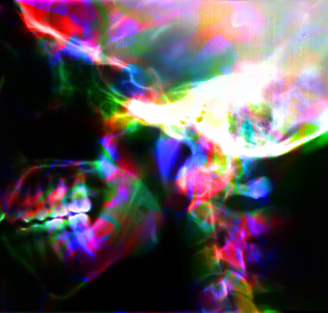 """Skull Exp12<br /> available as a small 2"""" x 2"""" print as it requires one to be close and personal"""
