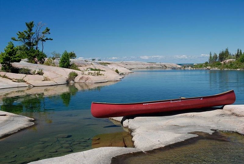 Red Canoe by Peter Hafemann