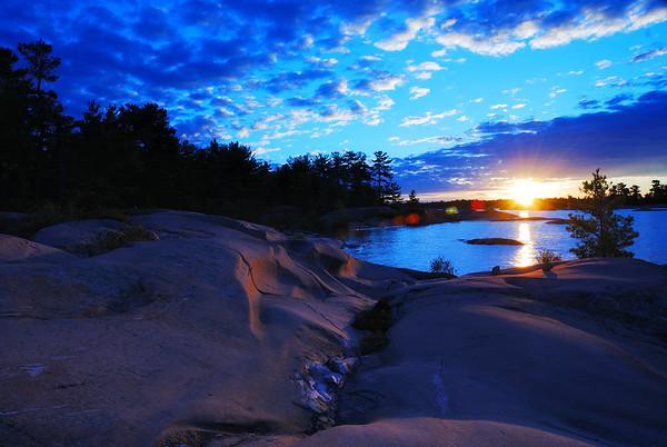 Glacial Striations Sunset by Derek Stanley