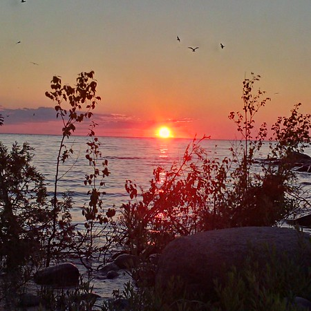 Huron Sunset by Paul Kostiuk