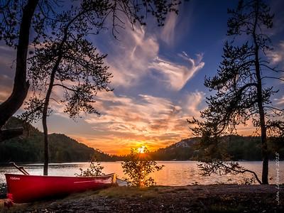 Super Sunsets on Grace Lake, Killarney Provincial Park, by Jean Lefebvre