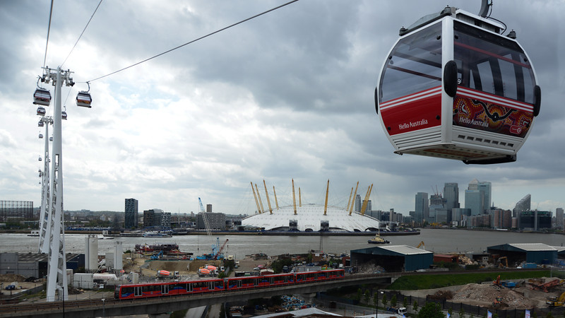 The 02, DLR, Tug & Cable Cars by John Allen