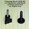 Elevation lock knob options for upright.