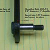 ABS-JY shoulder bolt countersunk into camera support arm.