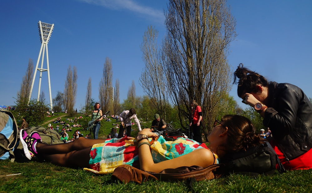 Nothing quite like relaxing on a gorgeous Sunday afternoon at Mauerpark – Berlin, Germany.