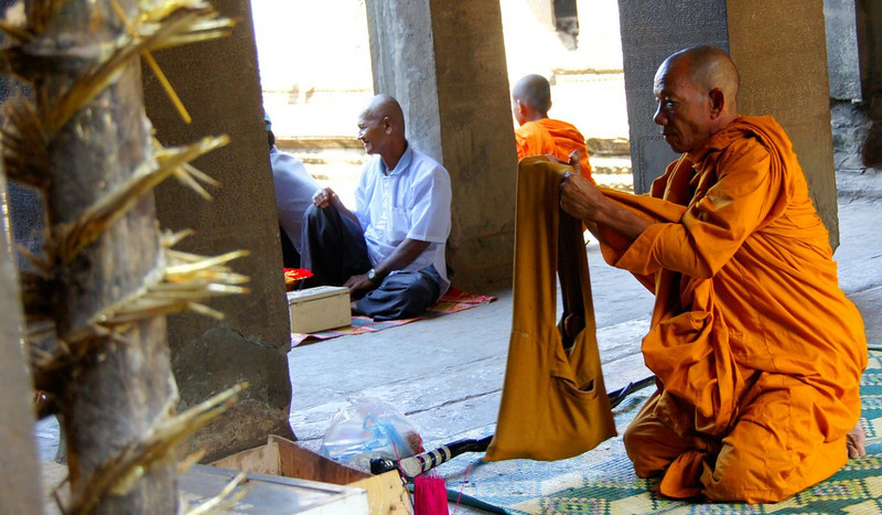This is a photo of a Cambodian buddhist monk from 2011.