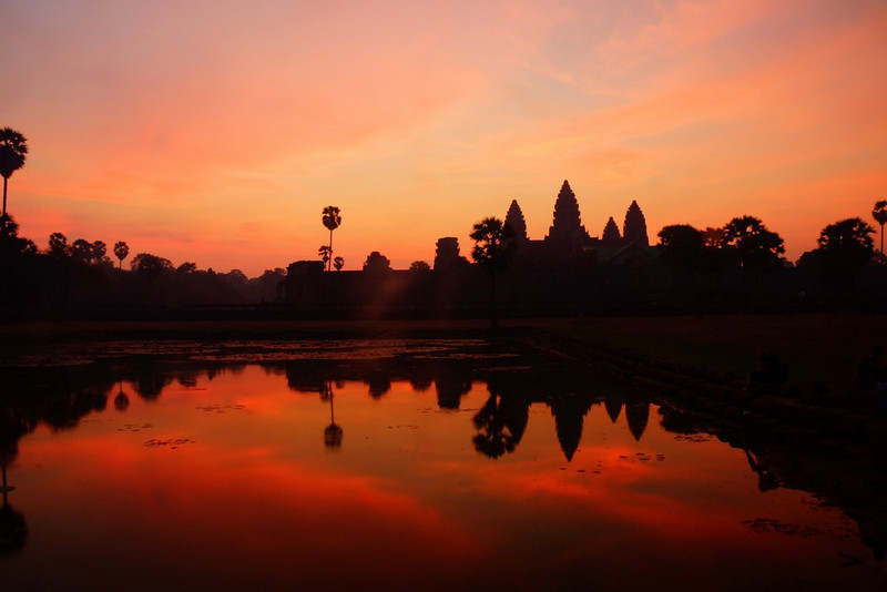 This is my favorite sunset photo I've taken in Angkor Wat over the years and it's also from my most recent visit with Audrey Bergner.