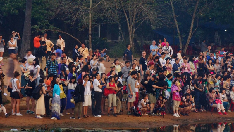 Think you'll have Angkor Wat all to yourself?  Think again!  This is what it is like visiting in 2013 with the mass crowds.