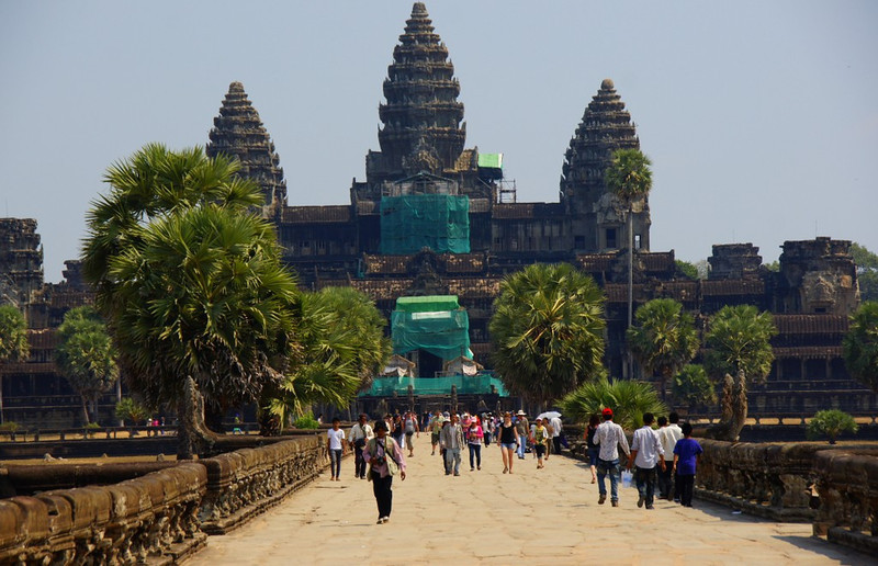 The sheer size of the Angkor Wat will blow your mind away.