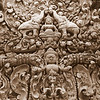 Some more details of the relief carvings in sepia.