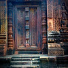 This is easily the most colorful temple I visited in all of Angkor as showcased by this door.