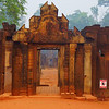 The main entrance gate leading to Banteay Srei.