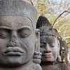 These statues lined the bridge leading up to Angkor Thom.