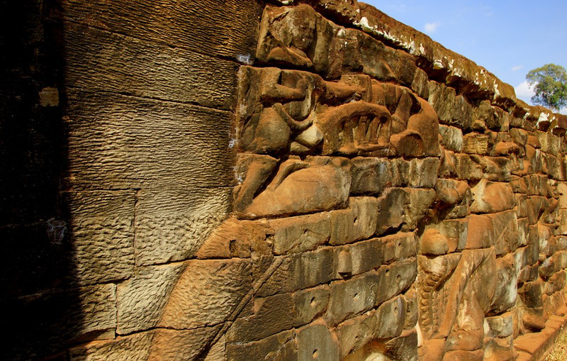 A closer up shot of the Terrace of Elephants.