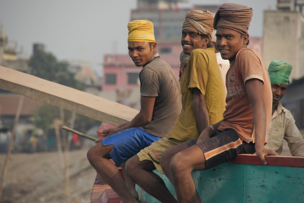 These friendly Bangladeshi men greeted me with their warm smiles.