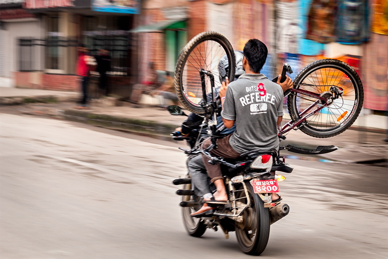 The Bicycle Moped Carry