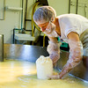 Keeping everything clean is a top priority in cheese production.