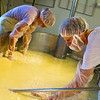 Every step of the cheese production is done by hand...