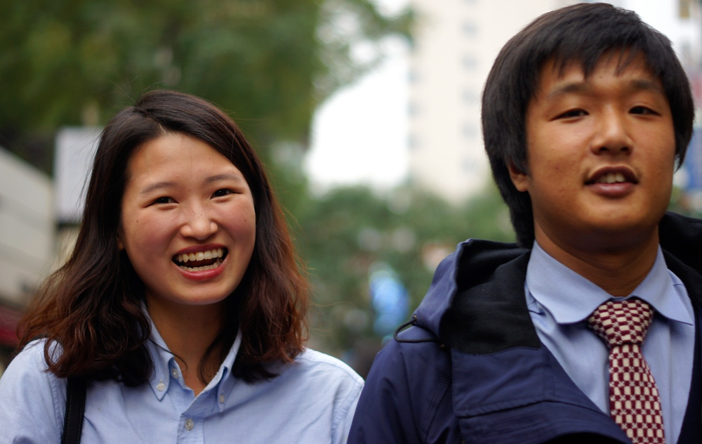 Nothing but smiling faces with this couple - Seoul, Korea.