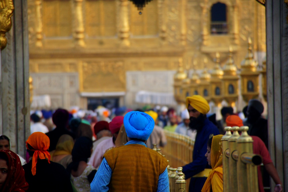 In the afternoon the temple can get awfully crowded - especially near the Gurdwara.