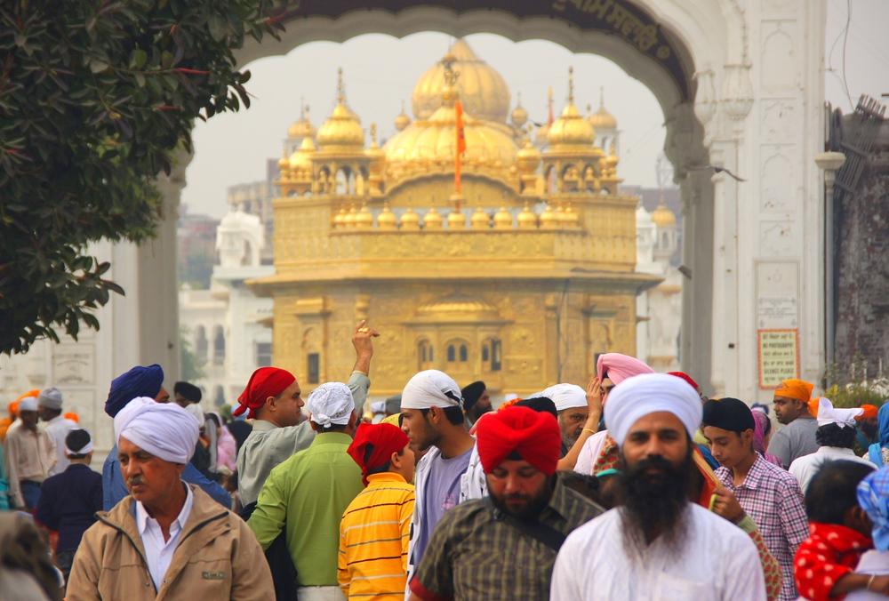 Aside from the impressive golden color of the temple, the people offer an even more eclectic mix of colors.