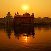 I snapped this photo of the Golden Temple from a distance during sunset.