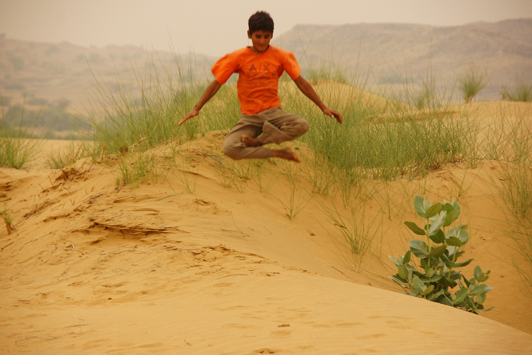 Jumping off Sand Dunes | Thar Desert, India | Photo Essay