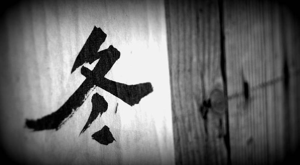 This is a traditional Chinese / Korean character written on one of the traditional homes at the Korean Folk Village.