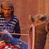 This Bedouin man was waiting on his camel for a tourist to come along an accept his offer for a ride.