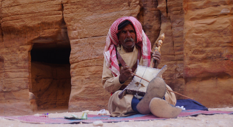 I've seen this man many times in photo galleries from other friends who have been to Petra.  It was almost surreal getting to take his photo.
