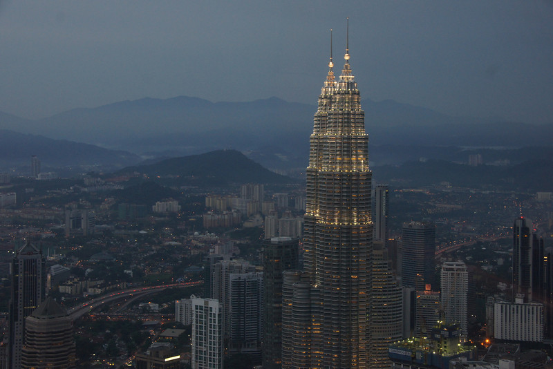 This photo was taken from the Kuala Lumpur Tower which is actually considered to offer to the best views of the city.