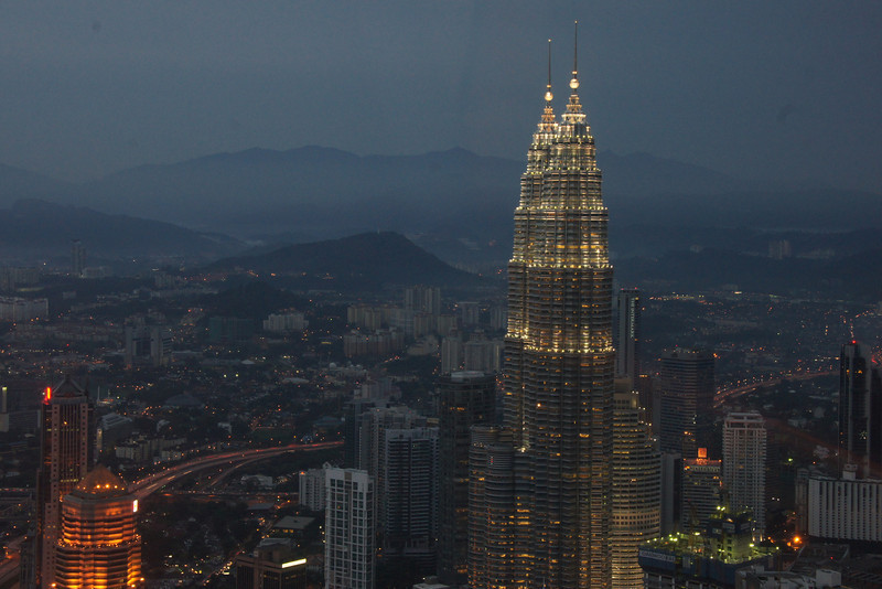 I took photos of the Petronas Towers at sundown and then quickly scuttled over to the towers to capture some shots at night.