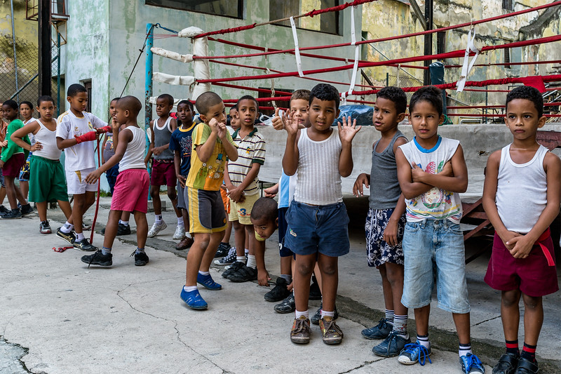 Athletes assemble for boxing class