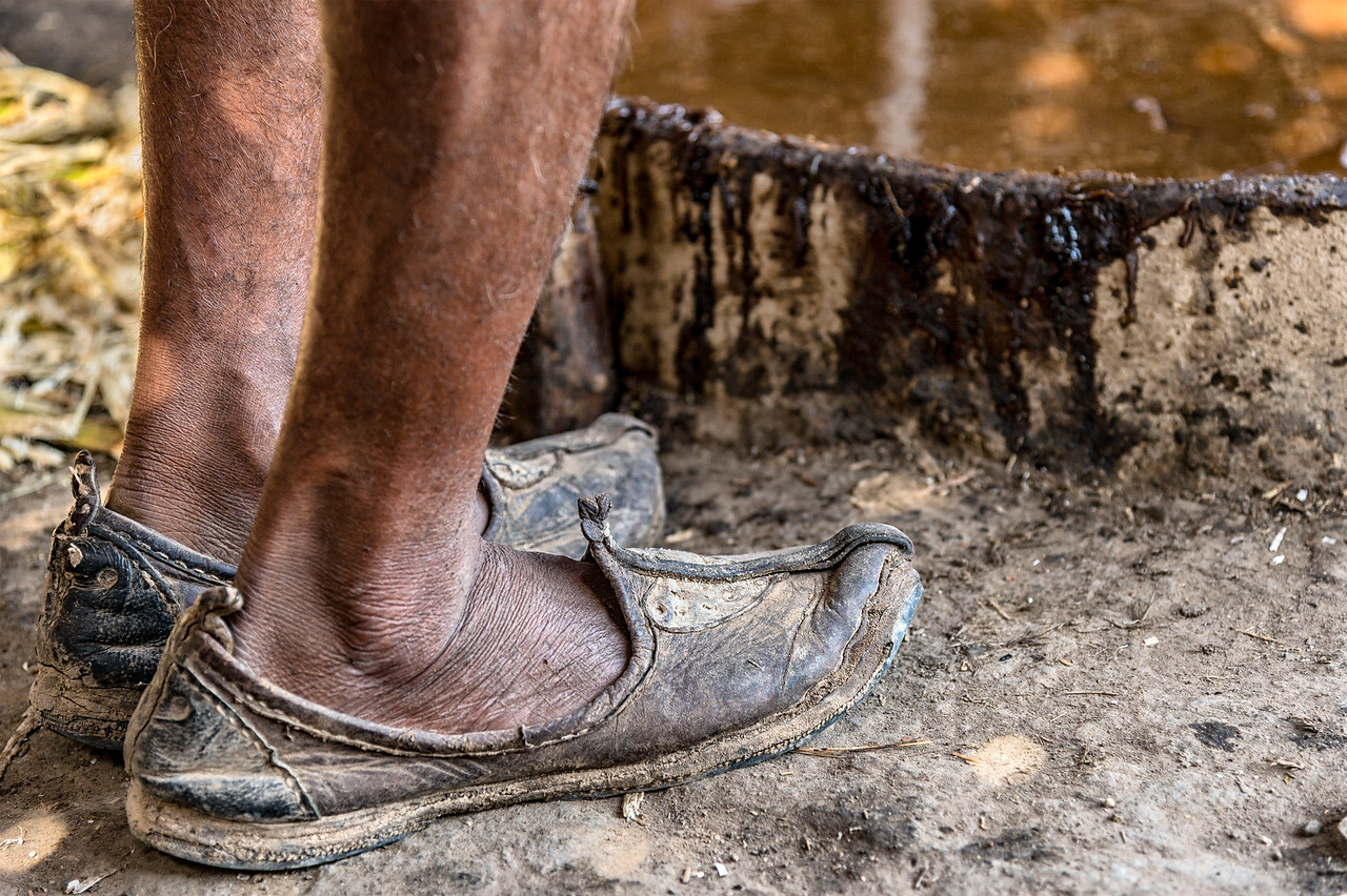 Traditional Mojari  - hand-made leather shoes common in Northern India and Pakistan