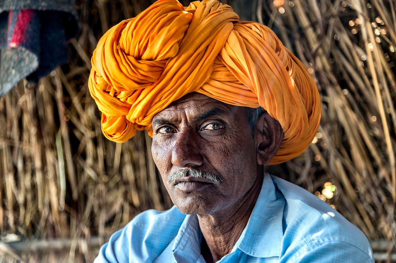 Sugar farmer in Tikkarda, India