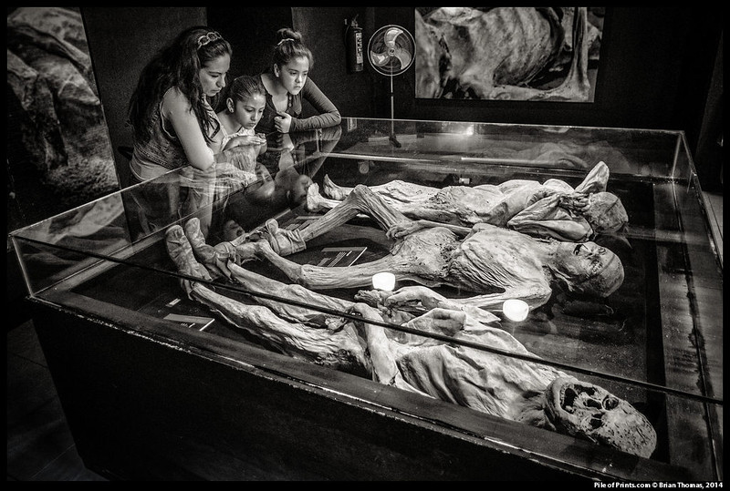 Unfortunately, not all of those so quickly removed were dead. Ignacia Aguilar, the furthest off mummy, was found to have turned herself around in her casket and banged her head against its walls.