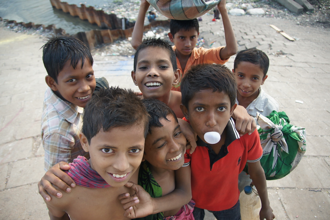 This group of children came up to me wanting to have their picture taken near the Sadarghat - Old Dhaka, Bangladesh.