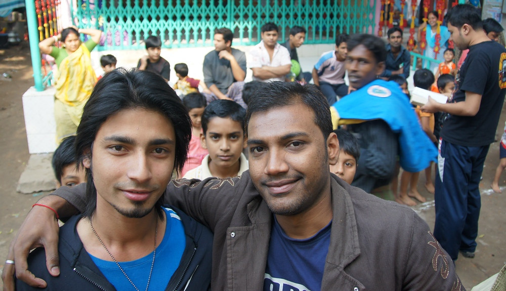 These two Bangladeshi men invited me to participate in a event for children held in the backyard of a home.