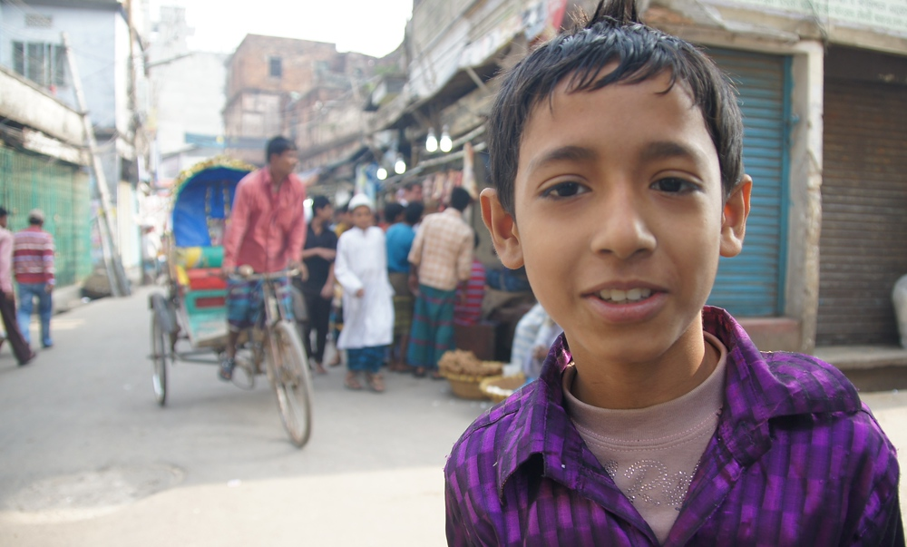 This cute boy was thrilled to have his photo taken as I was just randomly wandering around Old Dhaka, Bangladesh.