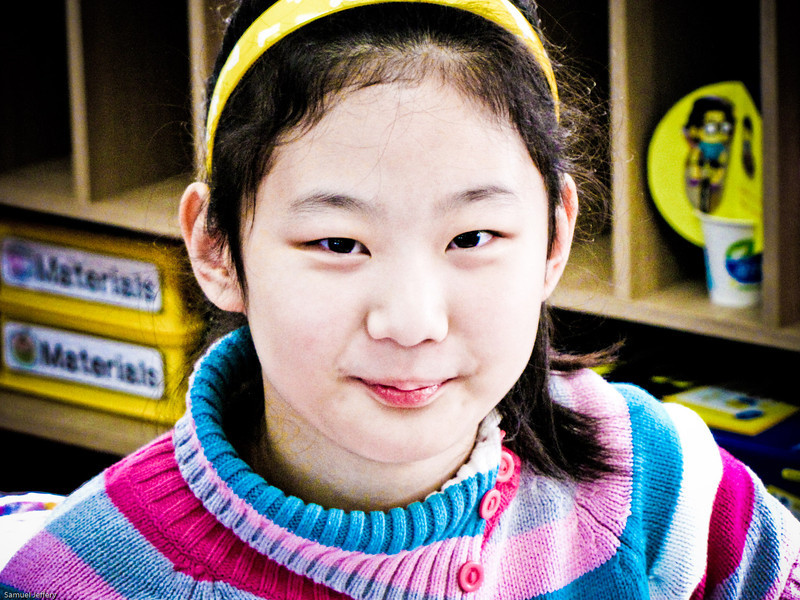 A picture of one of my favourite students from the elementary school I taught at in Daejeon during my very last class way back in 2009 - Daejeon, South Korea.