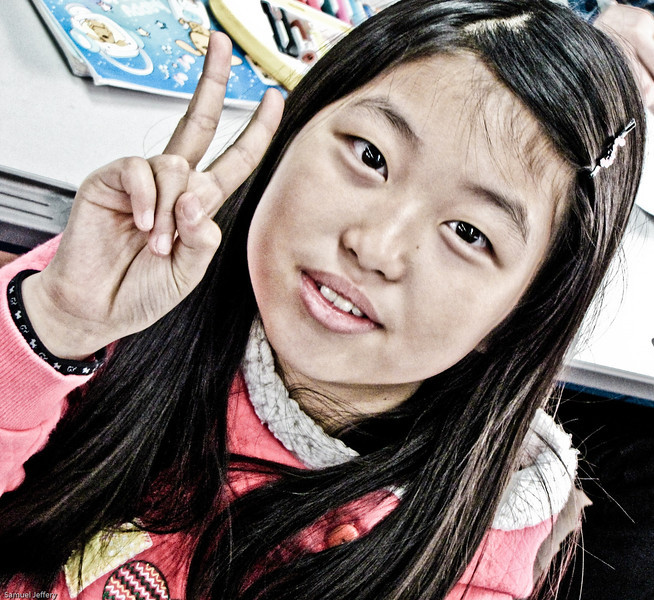 Finally, another shot of a cute Korean student from my time teaching in Daejeon, South Korea.