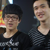 Some teenage boys share a laugh as they wander along the bustling area of the Shilin Night Market - Taipei, Taiwan.