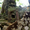 The piles of rubble are one of the most distinct features of Ta Prohm temple.
