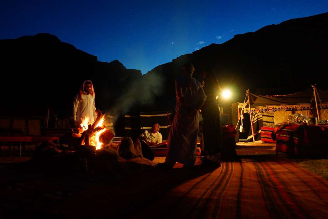 I was a little under the weather at the time and having an opportunity to lounge by the camp fire prior to going to sleep was the coziest option at this Bedouin camp.