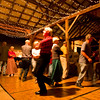 The square dance celebration was held in the barn that was recently reconstructed with the grant money provided.