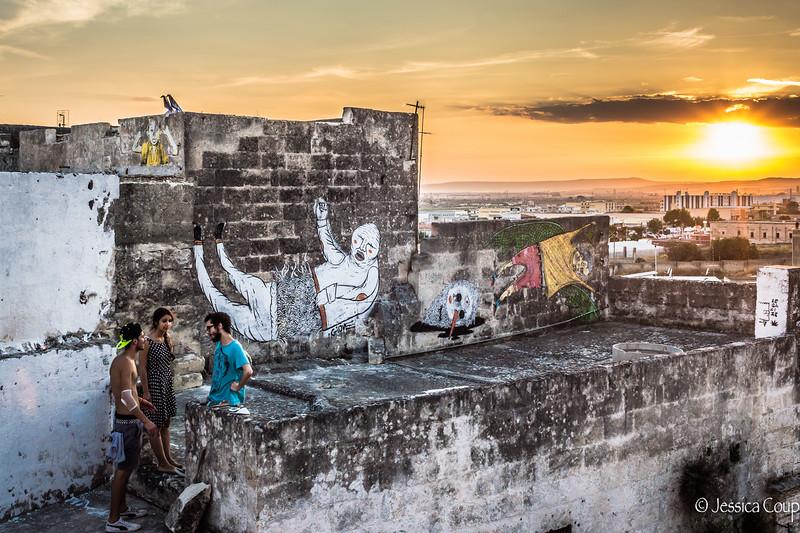 Massafra Street Art at Sunset