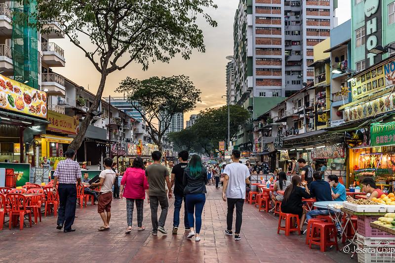 Jalan Alor at Sunset